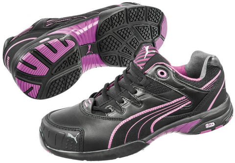 Puma Safety Women's Stepper Low Shoe Black/Purple