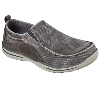 Skechers Men's Relaxed Fit®: Elected - Drigo Shoe Charcoal