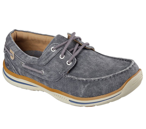 Skechers Men's Relaxed Fit®: Elected - Horizon Shoe Charcoal