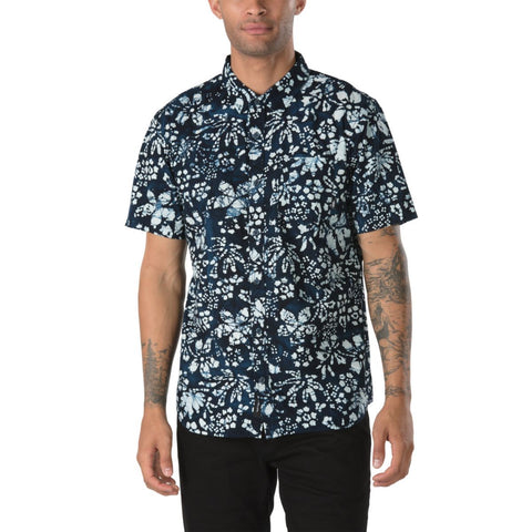 Vans Men's Trippin Batik Buttondown Shirt - Trippin Dress Blues
