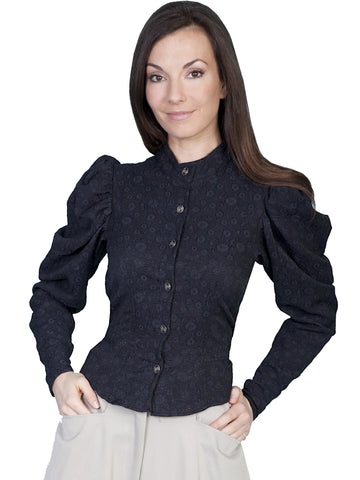 Scully 710601 Women's 1880'S Style Blouse Large Shirred Shoulder Sleeve
