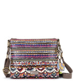 Sakroots Women's Artist Circle Basic Crossbody Charcoal Spirit Desert