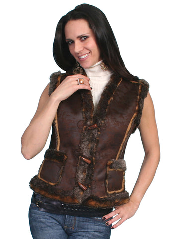 Scully Faux shearling vest.