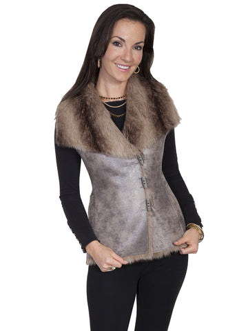 Scully Soft faux fur and suede vest