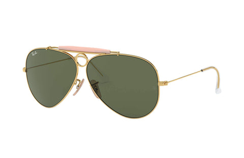 Frame Color: Gold / Lense Color: Green Classic G-15