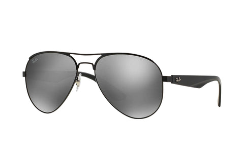 Frame Color: Matte Black / Lense Color: Gray Silver Mirror
