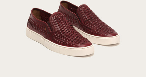 Frye Men's Gabe Woven Slip On Burgundy