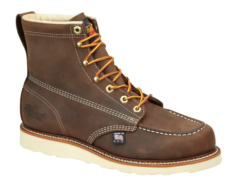 "Thorogood 814-4203 Mens 6"" Brown Moc Toe - Non-Safety Toe"