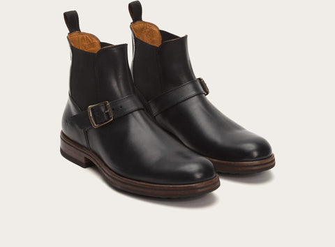 Frye Men's Wilson Engineer Chelsea Black