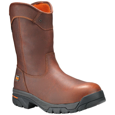 Timberland PRO Men's Helix Wellington Comp Toe Work Boots Tan Full-Grain