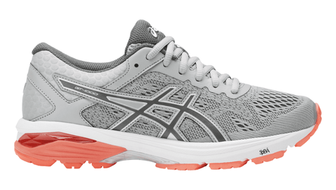 ASICS Women's GT-1000™ 6 (Wide) Running Shoe - Mid Grey/Carbon/Flash Coral