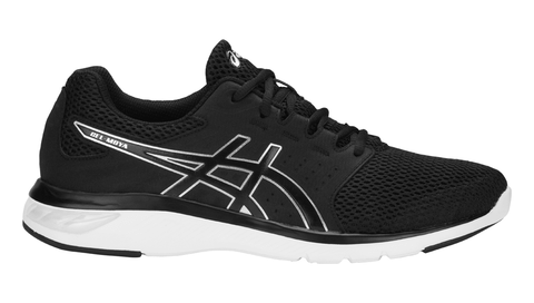 ASICS Men's GEL-Moya Running Shoe - Black/Black/Silver