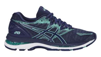 ASICS Women's GEL-Nimbus® 20 (Narrow) Running Shoe - Indigo Blue/Indigo Blue/Opal Green