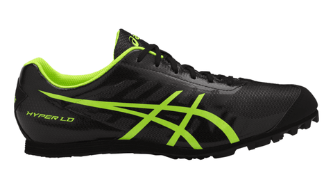 ASICS Men's Hyper® LD 5 Track & Field Shoe - Black/Safety Yellow