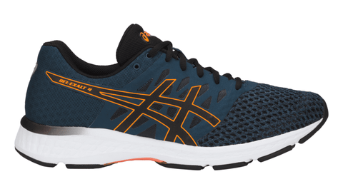 ASICS Men's GEL-EXALT™ 4 Running Shoe - Dark Blue/Black/Shocking Orange