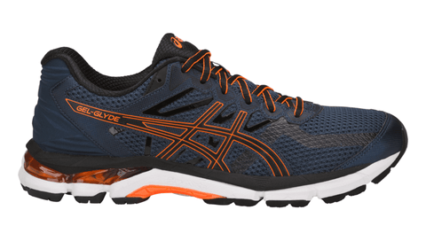ASICS Men's GEL-Glyde Running Shoe - Dark Blue/Black/Shocking Orange