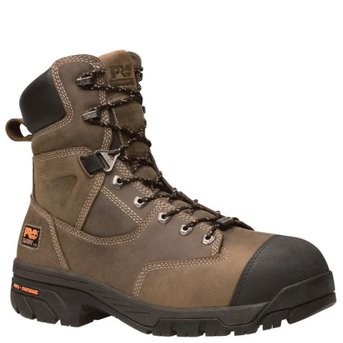 "Timberland PRO Men's Helix Comp Toe 8"" Work Boots Brown"