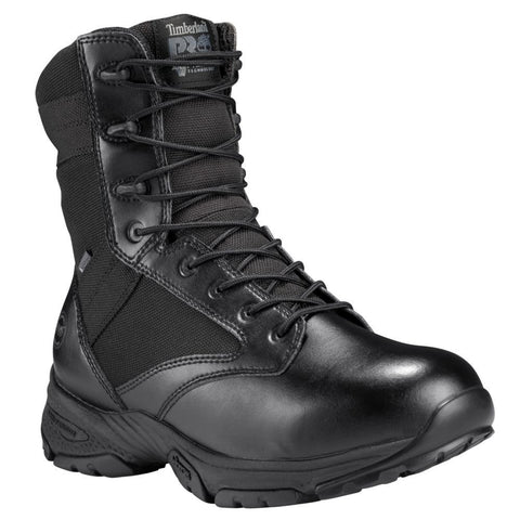"Timberland PRO Men's Valor™ Tactical 8"" Side-Zip Soft Toe Work Boots Black Smooth"