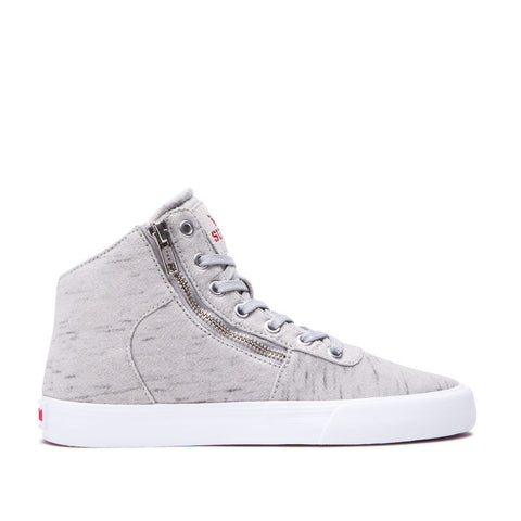 Supra Women's Cuttler Sneakers Grey - White
