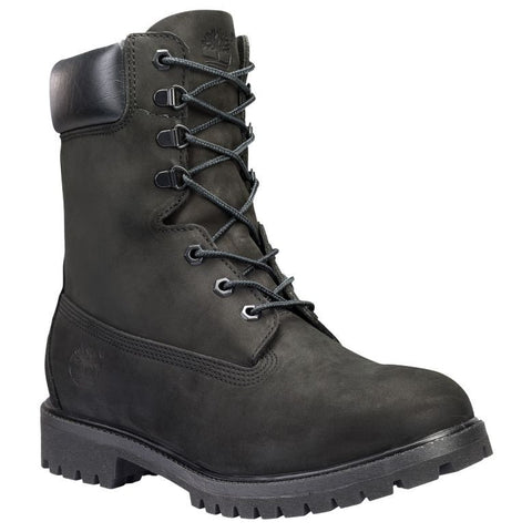 "Timberland Men's Classic 8"" Premium Boot Blackout Nubuck Leather"