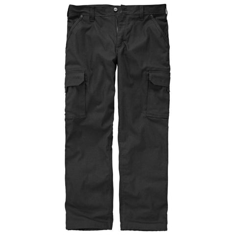 Timberland PRO Men's Gridflex Flannel-Lined Canvas Work Pant Jet Black