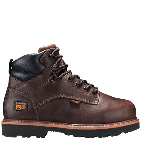 "Timberland PRO Men's Ascender 6"""" Met Guard Alloy Toe Work Boot Brown"