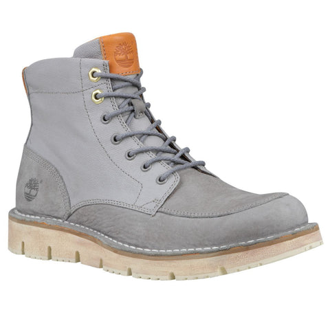 Timberland Men's Westmore Boots Steeple grey Barefoot buffed w/Grey Coated Linen