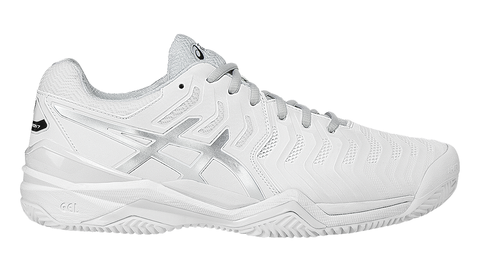 Asics Men's GEL-RESOLUTION® 7 CLAY COURT White/Silver