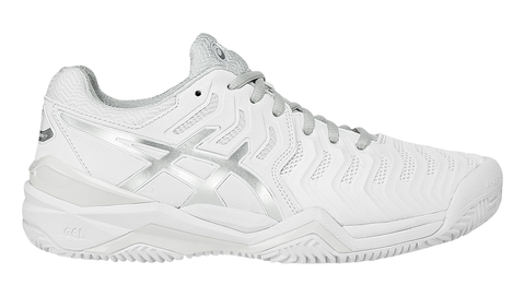 Asics Women's GEL-RESOLUTION® 7 CLAY COURT White/Silver