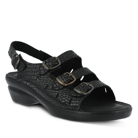 Flexus Women's Adriana Sandal Black