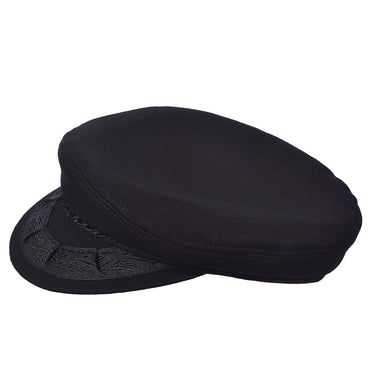 Aegean Men's Greek Wool Fisherman Hats Black