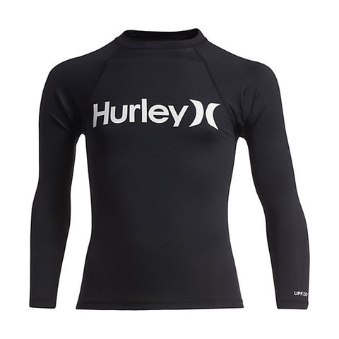Hurley Boys One And Only Long Sleeve Rashguard Shirt