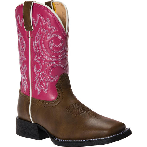 Durango Little Kids Brown/Pink Western Boot