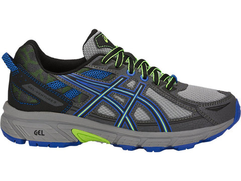 ASICS Kid's GEL-Venture® 6 GS Running Shoe - Stone Grey/Black/Victoria Blue