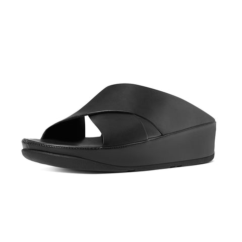 Fitflop Women's Kys™ Leather Slide Sandals All Black