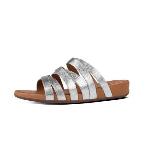 Fitflop Women's Lumy™ Leather Slide Silver