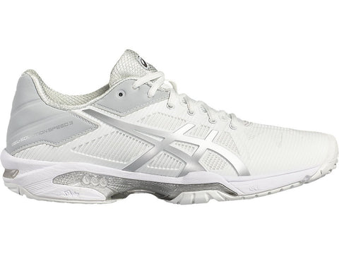ASICS Women's GEL-Solution® Speed 3 Tennis Shoe - White/Silver