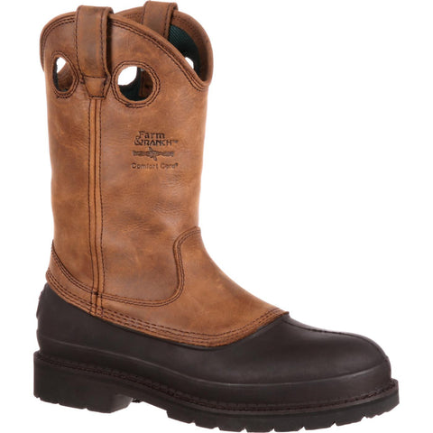 Georgia Men's Mississippi Brown Muddog Wellington Work Boot