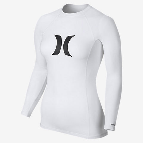 Hurley Womens One And Only Long Sleeve Rashguard Shirt