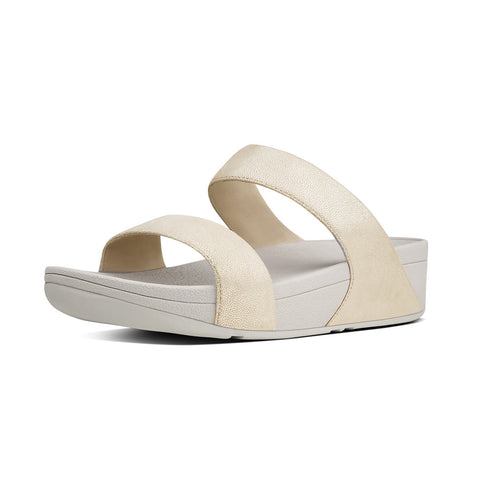 Fitflop Women's Shimmy™ Suede Slide Sandals Pale Gold