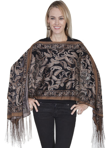 Scully HC219 Women's Paisley Burnout Scarf