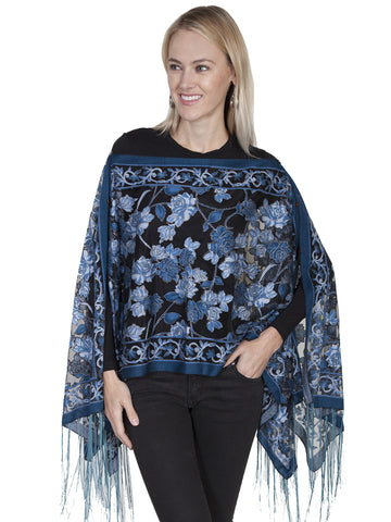 Scully HC220 Women's Embroidered Long Sleeve Tunic