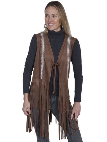 Scully Long fringe vest