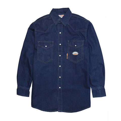 Rasco FR Men's Heavyweight Work Shirt Denim