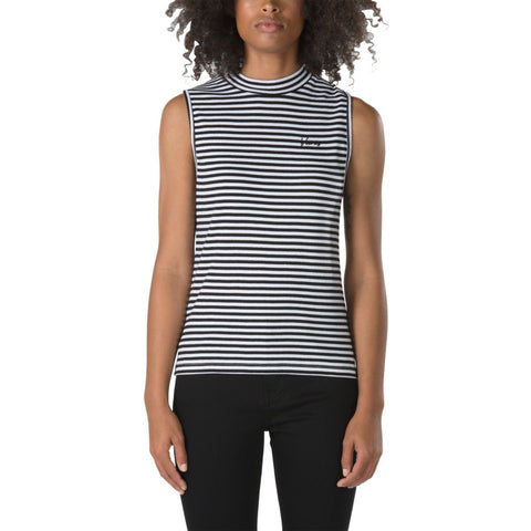 Vans Women's Brentwood Mock Neck Tank - White