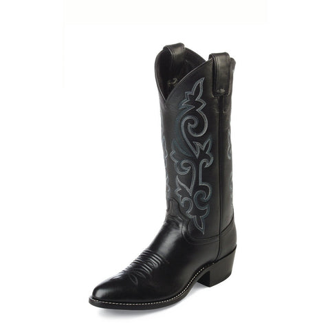 Justin 1409 Men's Black London Calf Western Boots