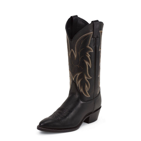 Justin 1419 Men's Royal Black Cowhide Western Boots