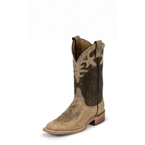 Justin BRL318 Women's Antique Beige Cowhide Bent Rail Boots