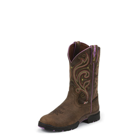 Justin GSL9040 Women's Oily Barnwood Brown Waterproof George Strait Boots