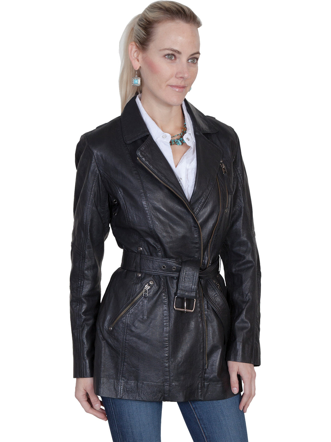 Scully L330 Women's Washed Lamb Coat
